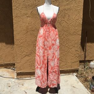 Joie Peachy Large Print Floral Dress size XS